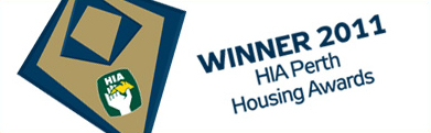 HIA Perth Housing Award Winner 2011